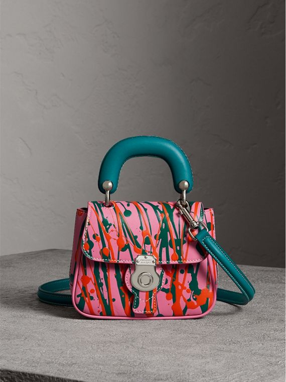 The Mini DK88 Splash Top Handle Bag in Rose Pink