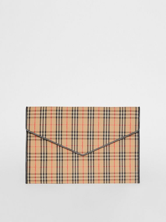 Large 1983 Check Envelope Pouch in Black