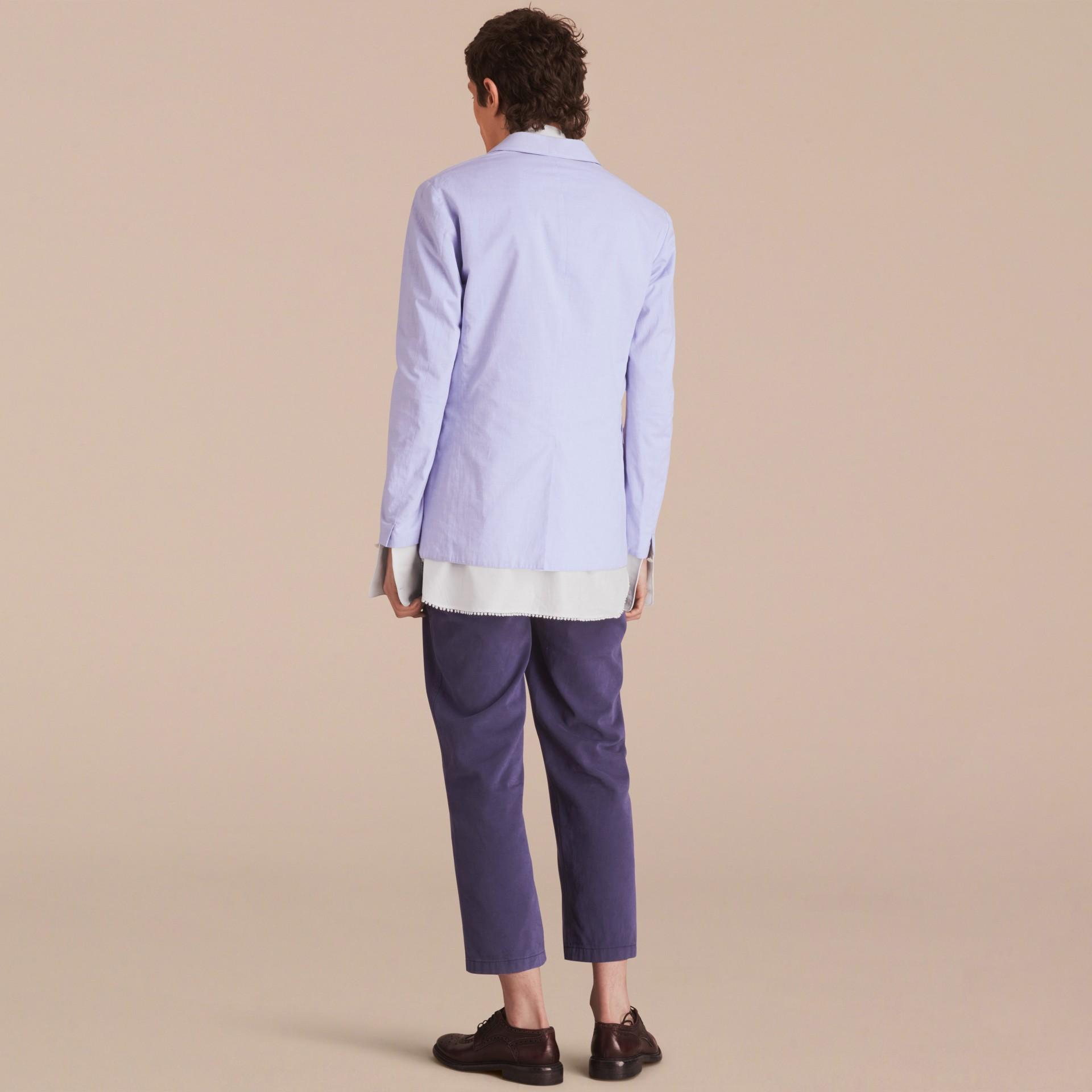 Lightweight Cotton Chambray Blazer - gallery image 3