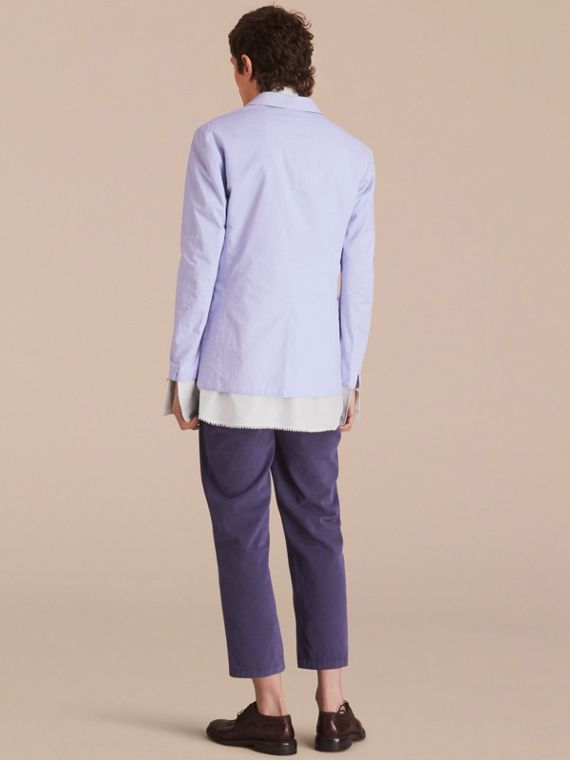 Lightweight Cotton Chambray Blazer - cell image 2