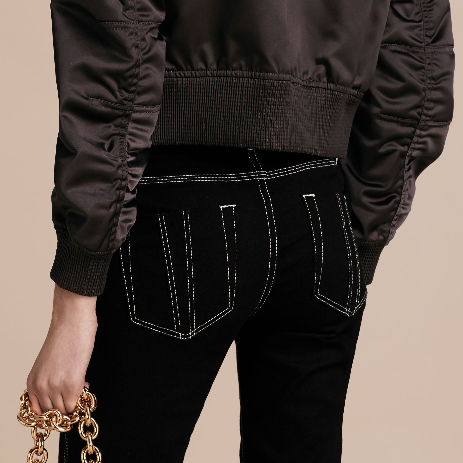 Graphite Cropped Technical Bomber Jacket - gallery image 6