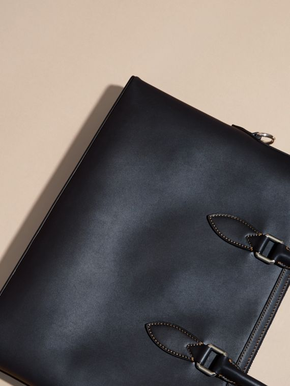 Dark navy The Slim Barrow in Smooth Leather - cell image 3