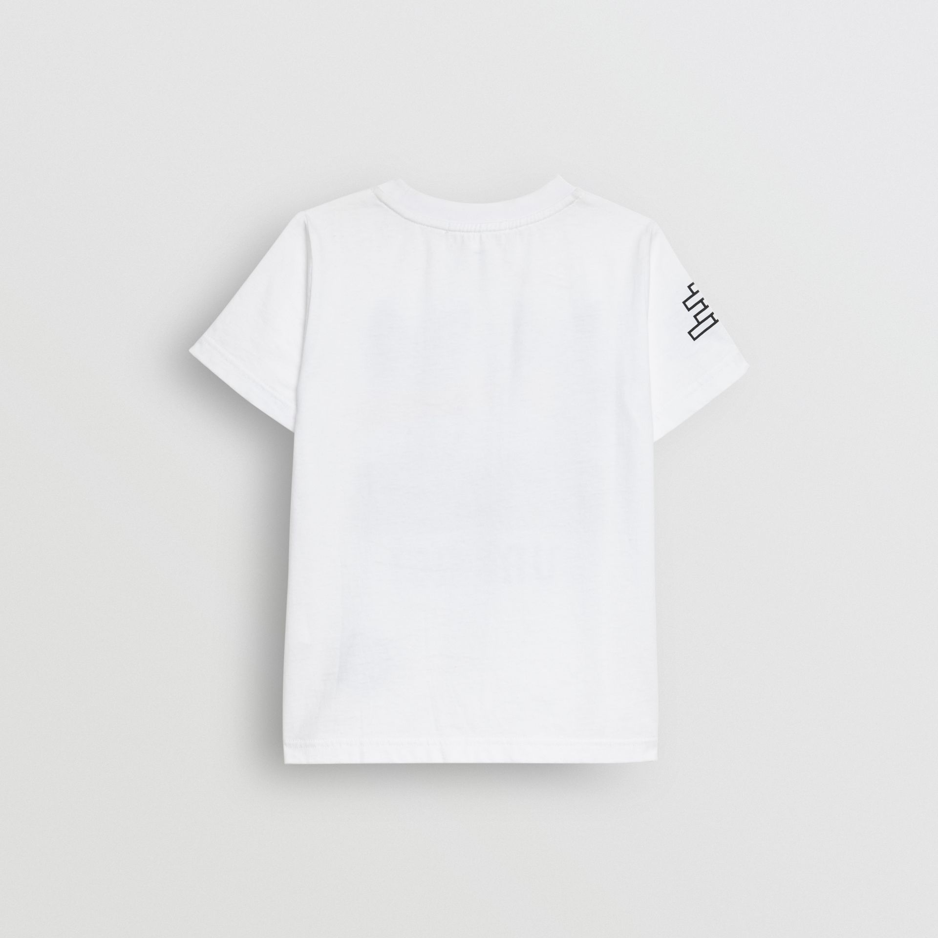Fox Print Cotton T-shirt in White | Burberry - gallery image 3