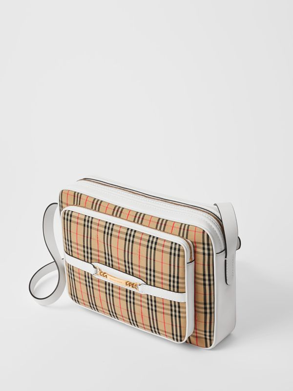 The Large 1983 Check Link Camera Bag in Chalk White - Men | Burberry - cell image 2