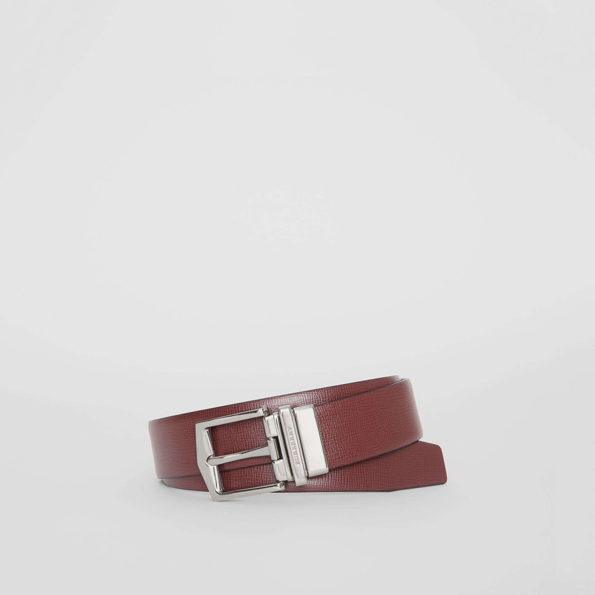Reversible London Leather Belt in Burgundy Red/black - Men | Burberry - gallery image 0