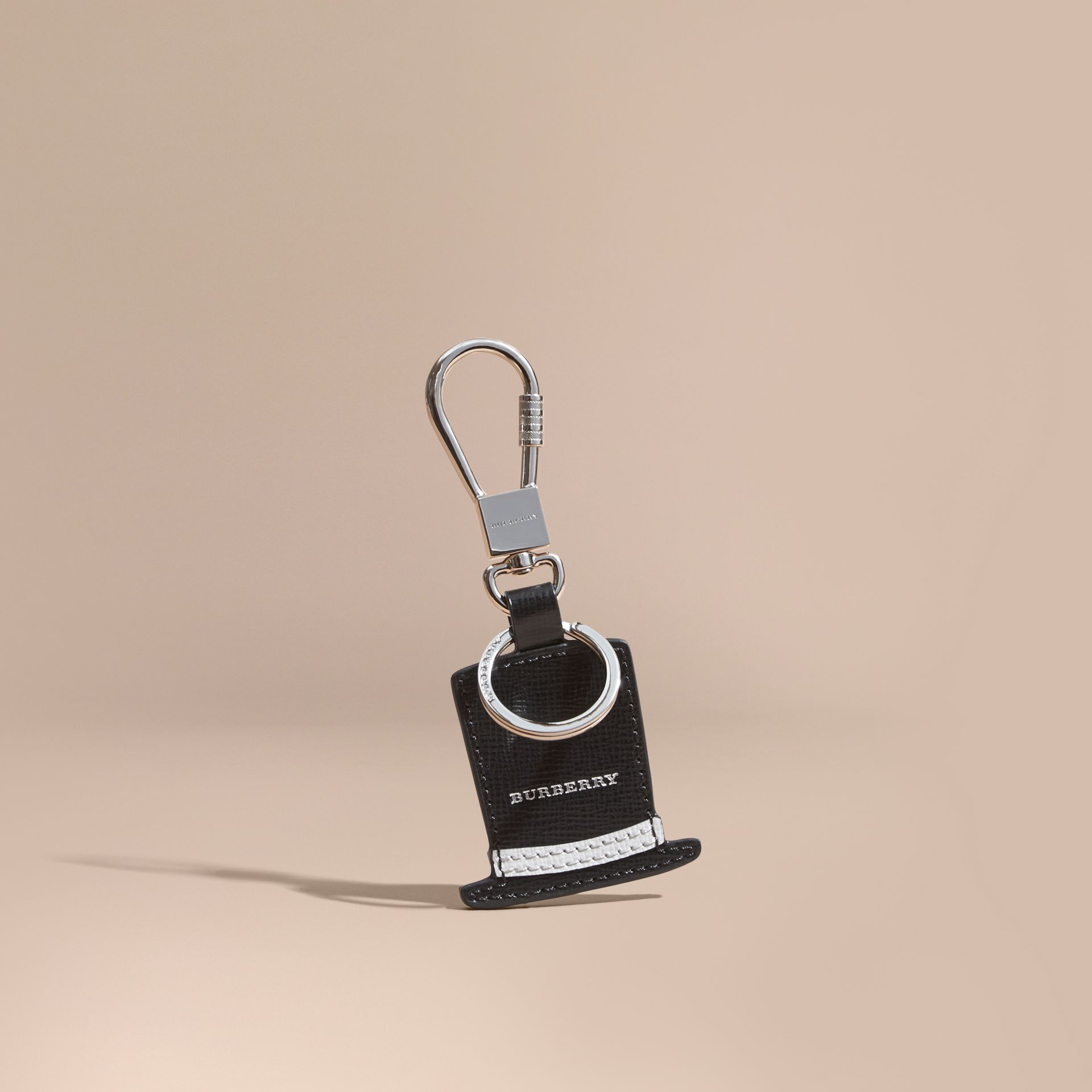 Top Hat Key Ring in Leather - gallery image 1