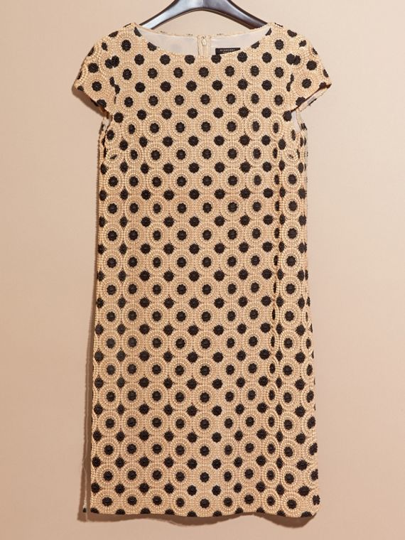 Nude/black Online Exclusive Swiss Lace Shift Dress Nude/black - cell image 3