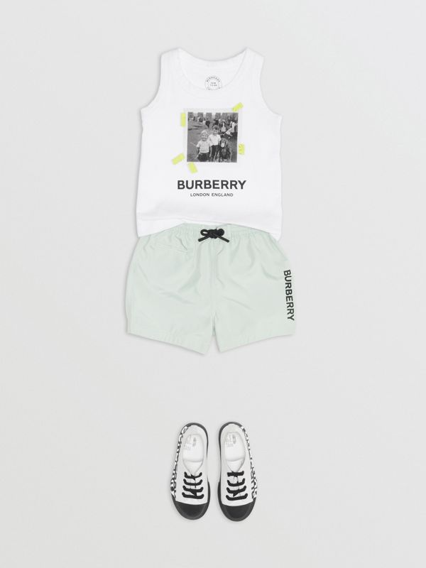 Vintage Photo Print Cotton Vest in White - Children | Burberry Singapore - cell image 2