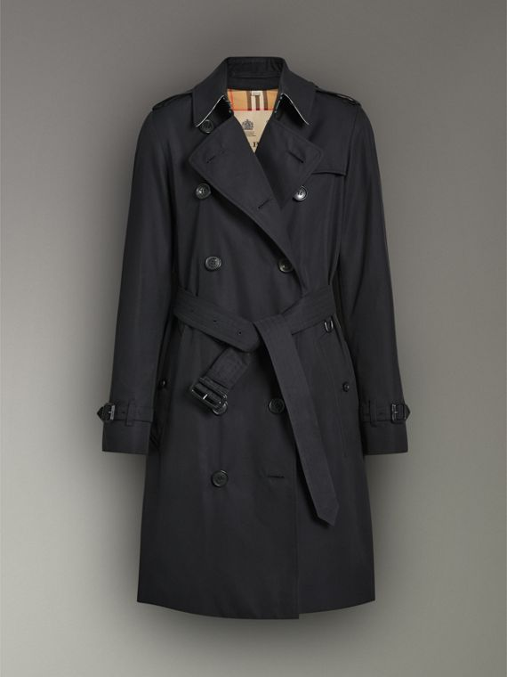 The Kensington Heritage Trench Coat in Midnight - Women | Burberry United Kingdom - cell image 3
