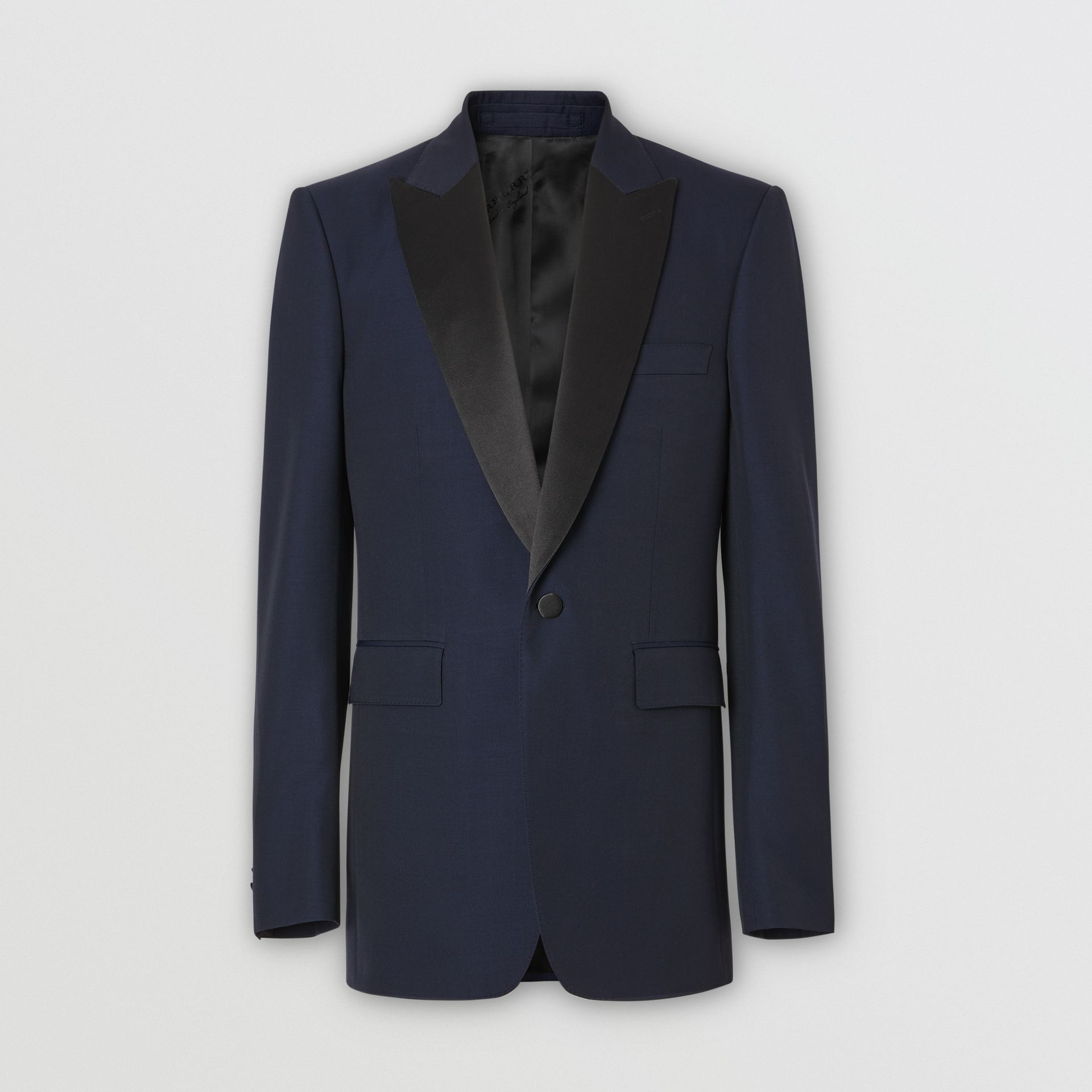 Classic Fit Wool Silk Tuxedo in Navy - Men | Burberry United Kingdom - gallery image 3