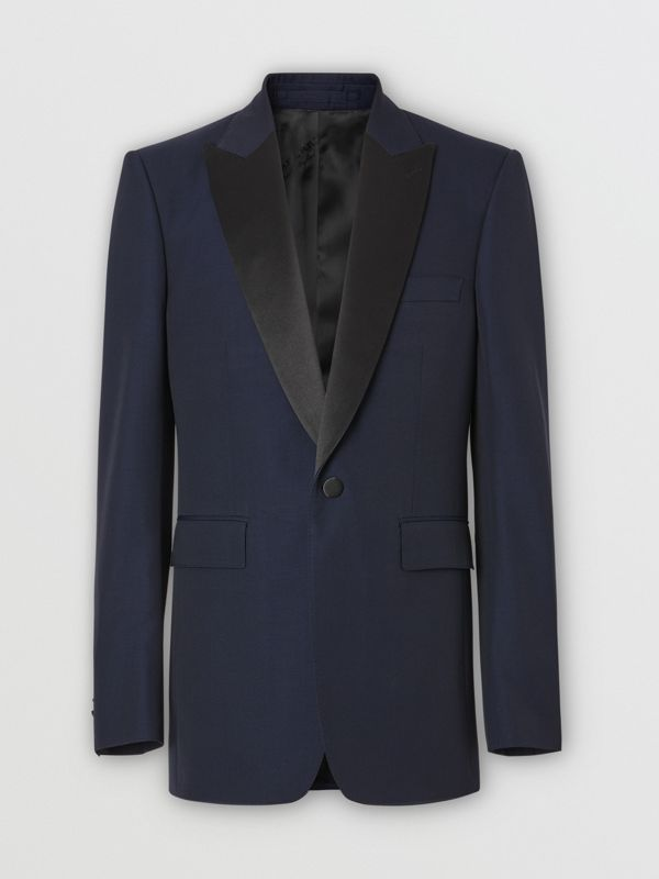 Classic Fit Wool Silk Tuxedo in Navy - Men | Burberry Australia - cell image 3