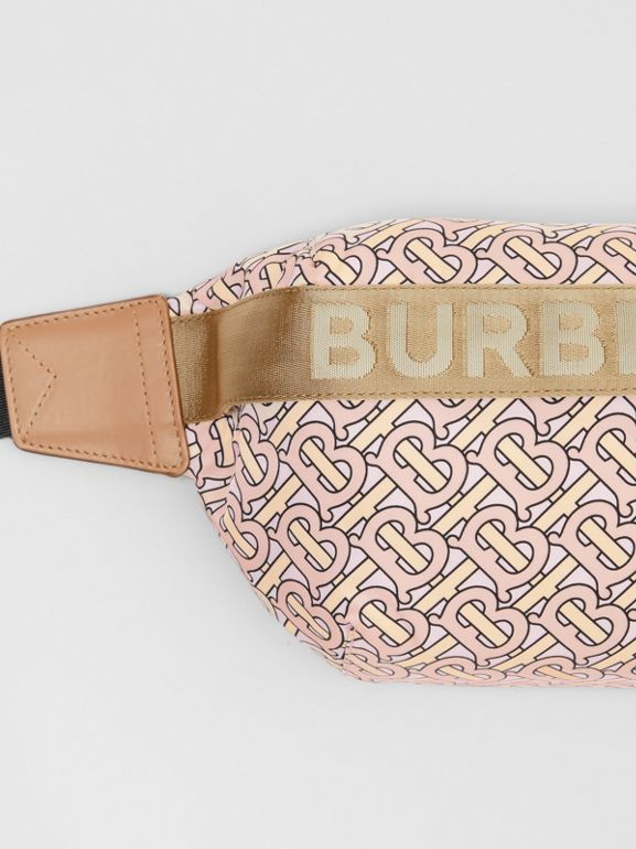 Medium Monogram Print Bum Bag in Blush | Burberry Singapore - cell image 1