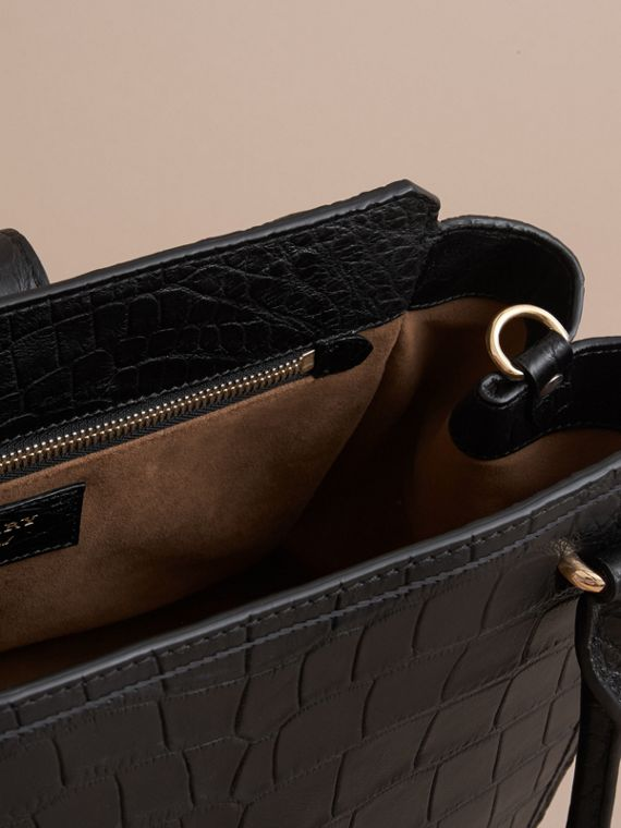Borsa tote The Buckle media in alligatore (Nero) - Donna | Burberry - cell image 3