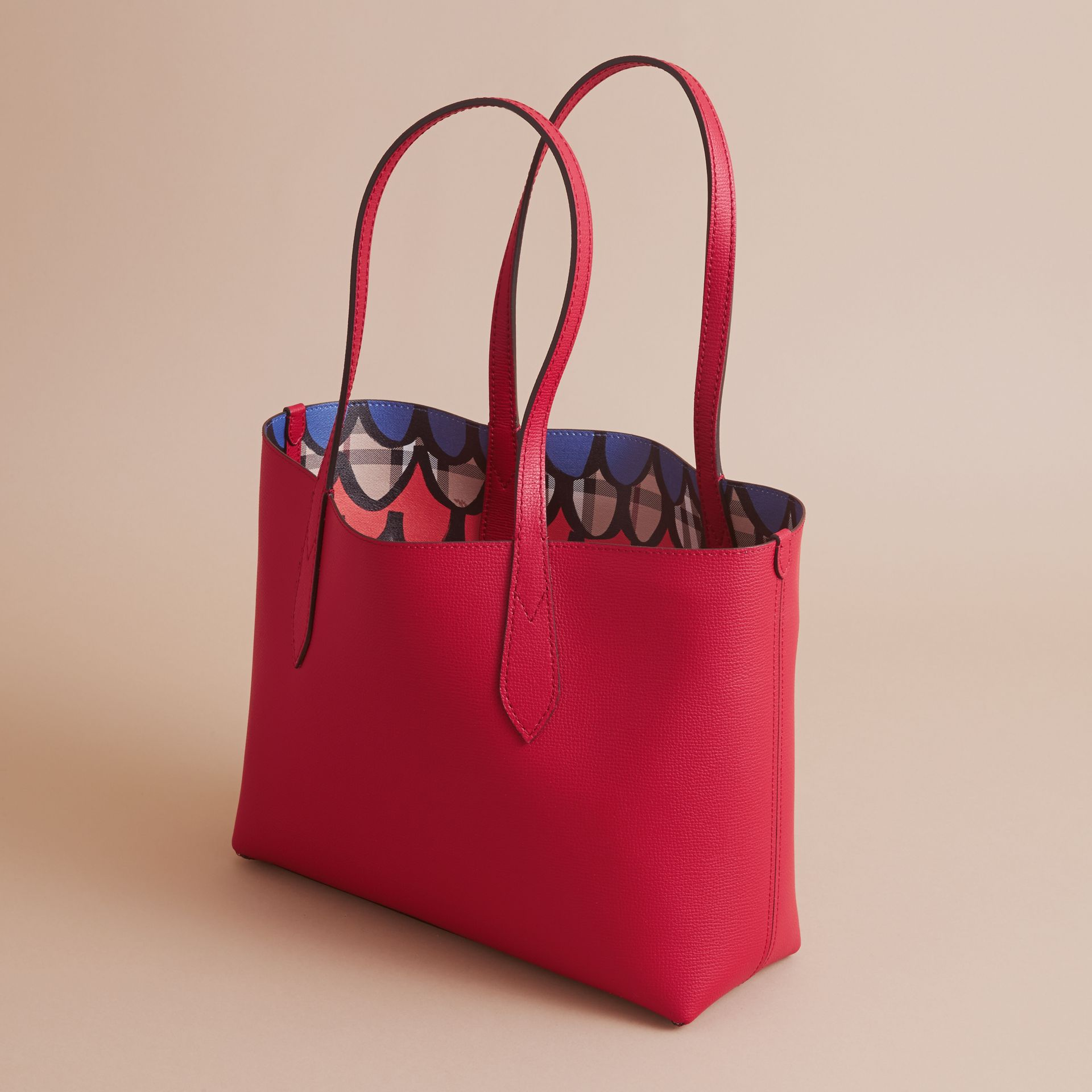 The Small Reversible Tote in Trompe L'oeil Print - gallery image 5