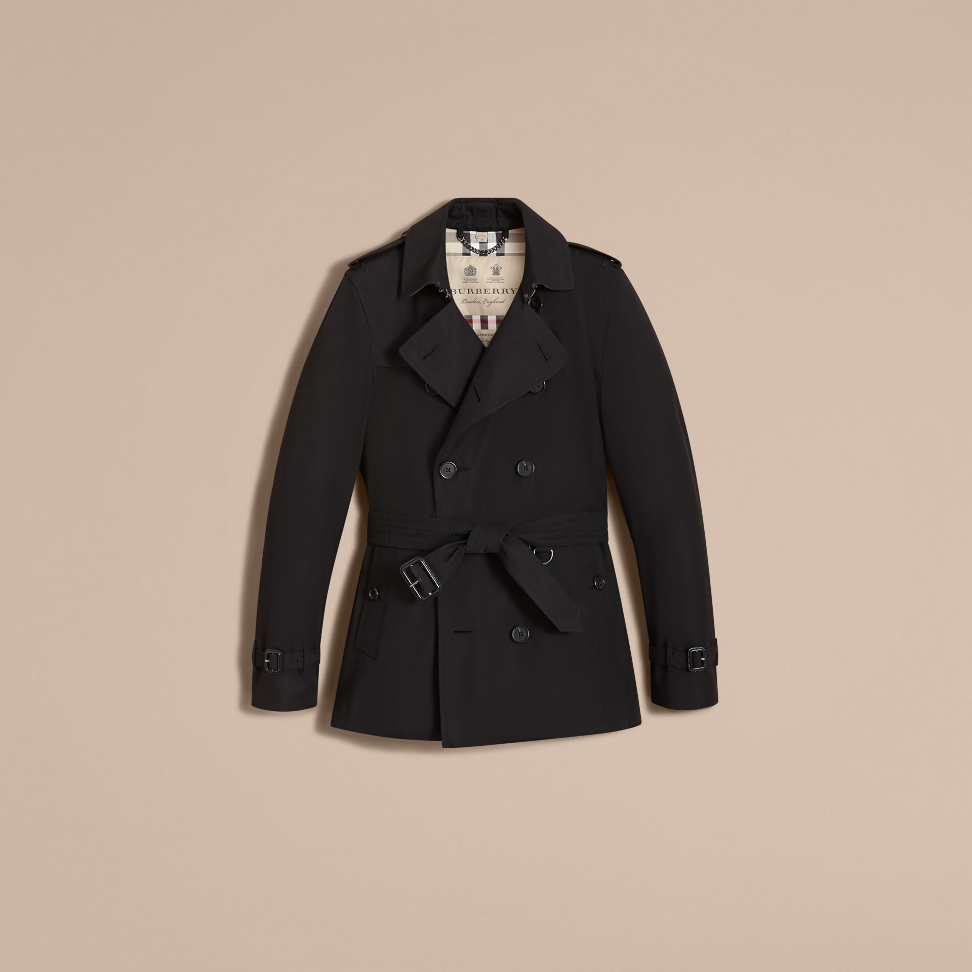 Black The Kensington – Short Heritage Trench Coat Black - gallery image 5