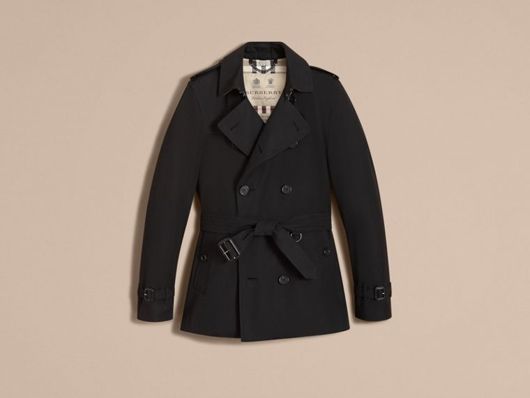 Black The Kensington – Short Heritage Trench Coat Black - cell image 4