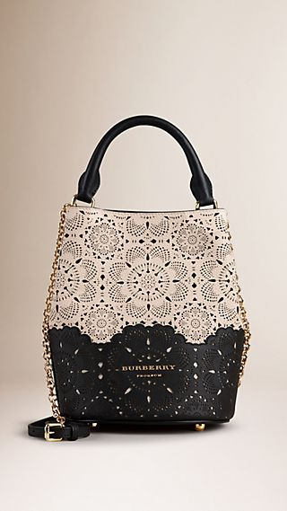 The Small Bucket Bag in Perforated Leather