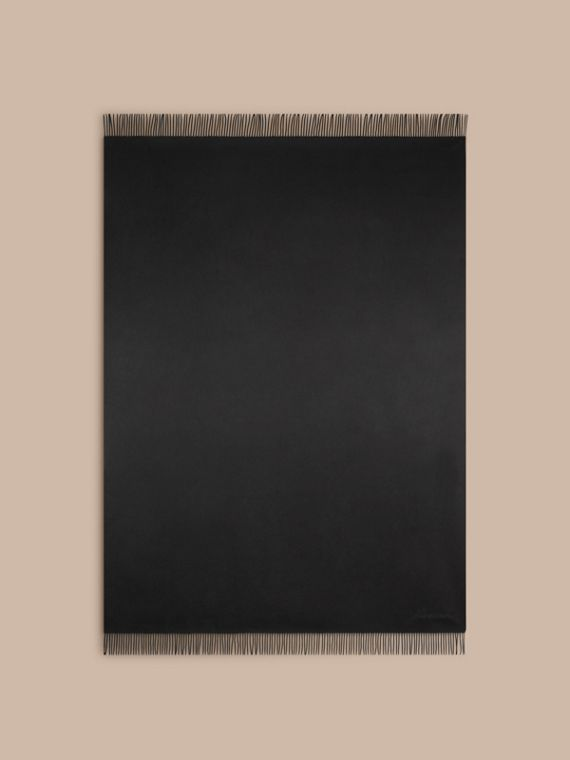 Black Cashmere Blanket Black - cell image 2