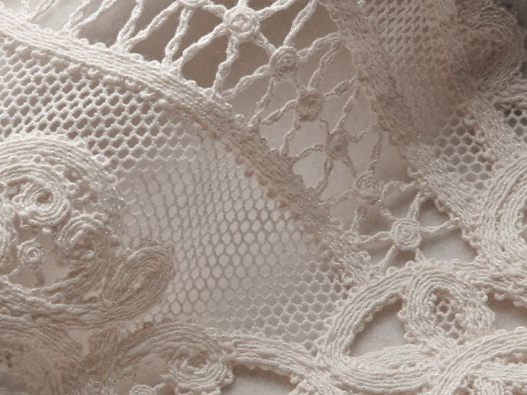 Unisex Lace Cutwork Sweatshirt in Light Grey Melange - Women | Burberry Singapore - cell image 1