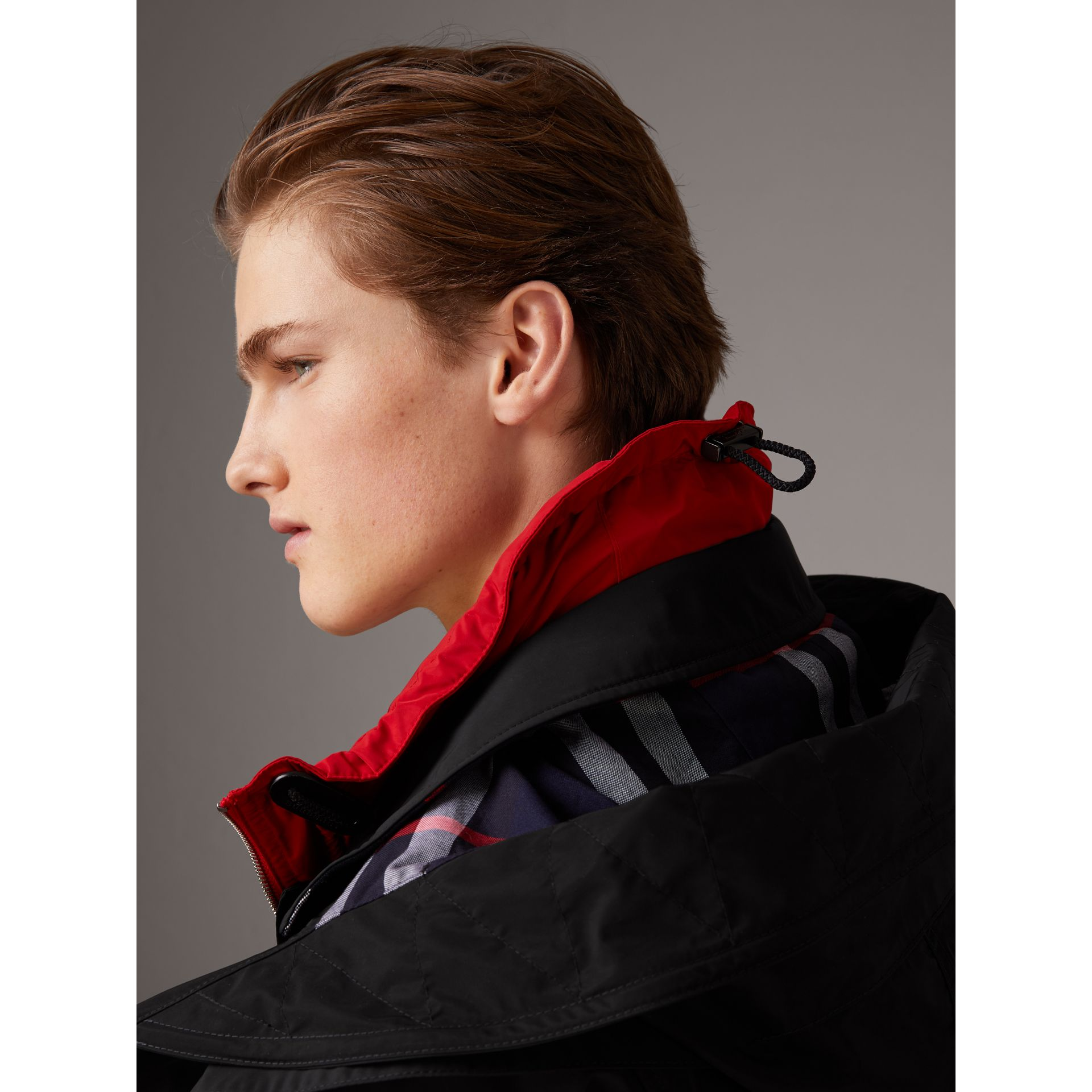 Taffeta Coat with Detachable Hood and Gilet in Black - Men | Burberry United Kingdom - gallery image 1