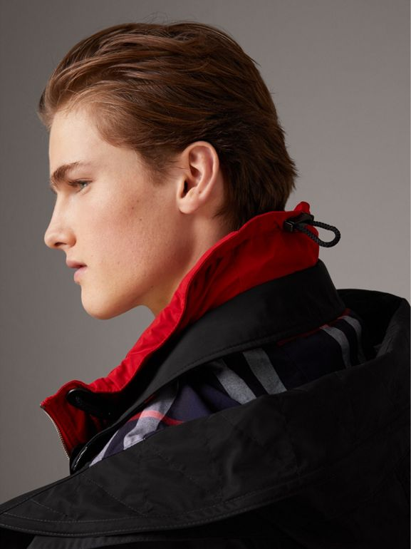 Taffeta Coat with Detachable Hood and Gilet in Black - Men | Burberry United Kingdom - cell image 1