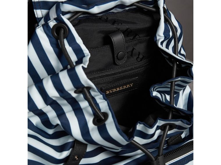 The Large Rucksack in Striped Nylon with Pallas Helmet Motif | Burberry - cell image 4