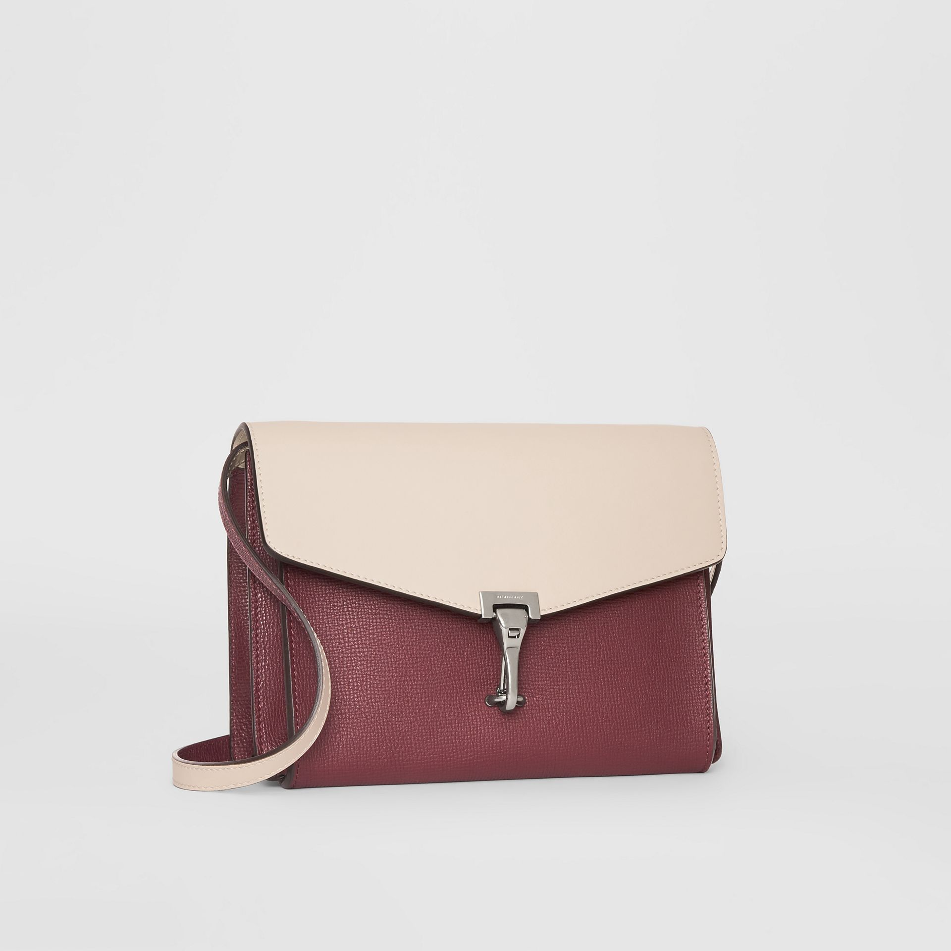 Two-tone Leather Crossbody Bag in Mahogany Red/limestone - Women | Burberry United States - gallery image 6
