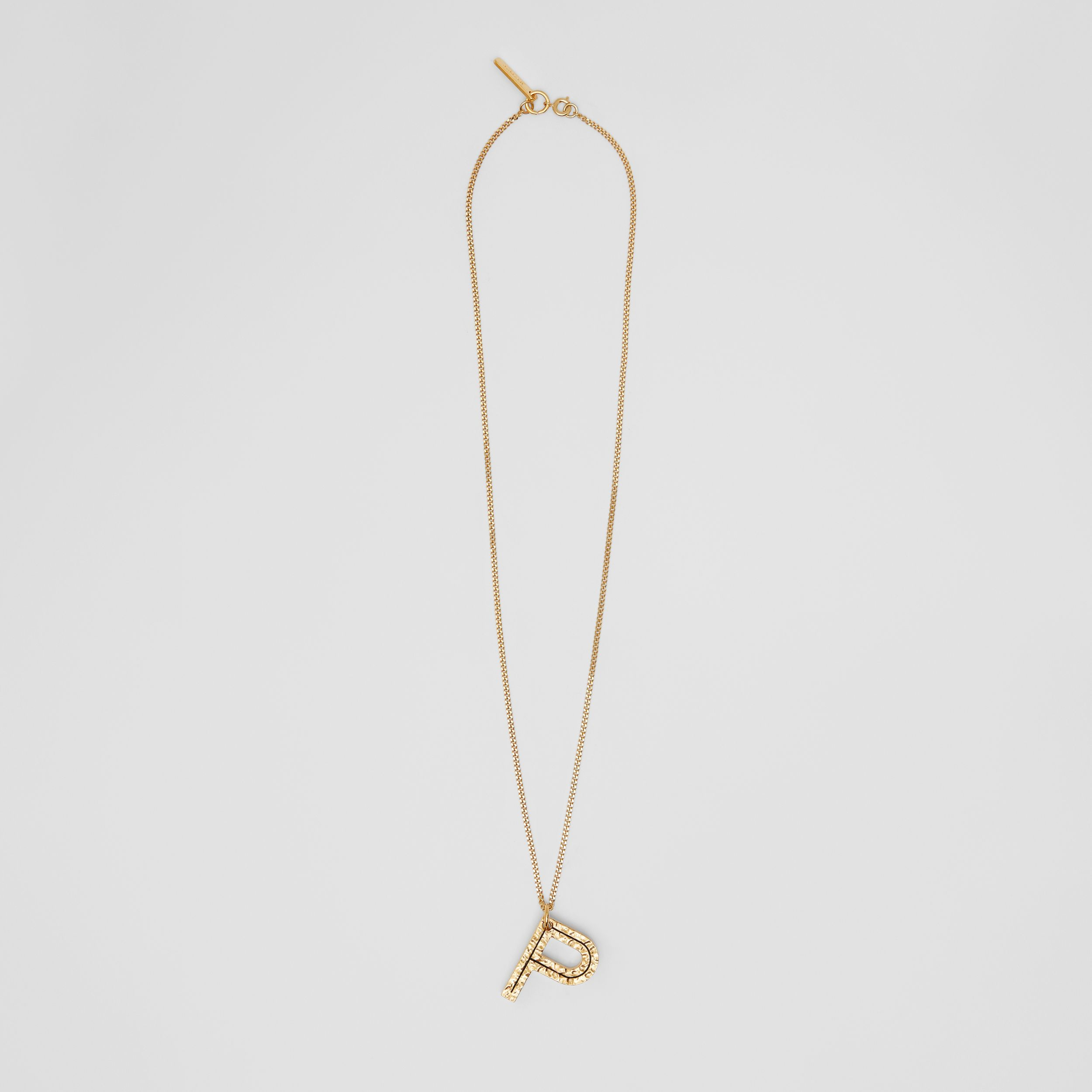 'P' Alphabet Charm Gold-plated Necklace in Light - Women | Burberry - 1
