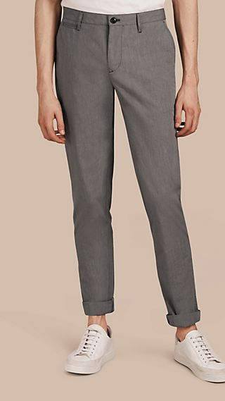 Cotton Tapered Trousers