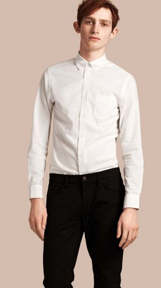 Button-down Collar Cotton Linen Shirt