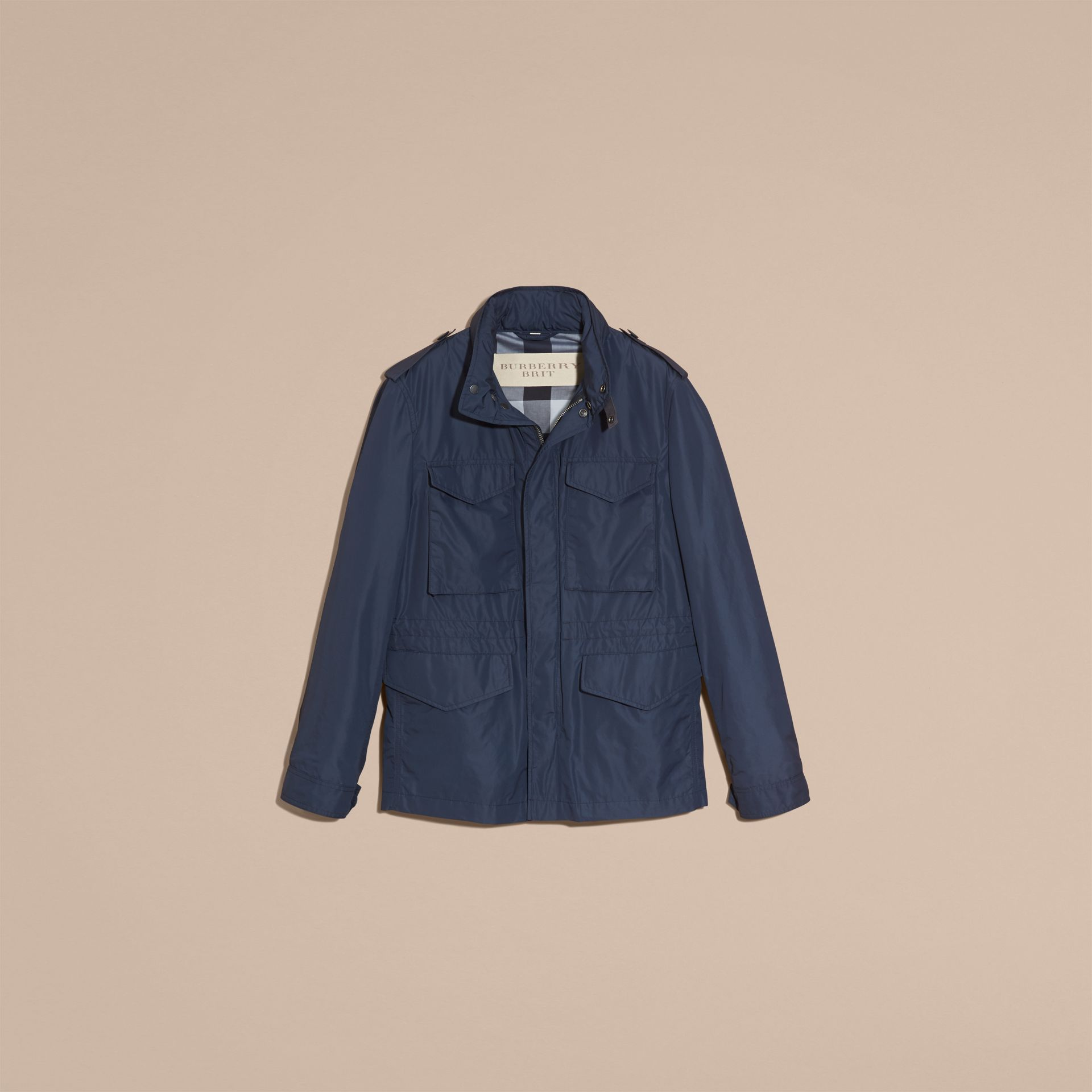 Navy Showerproof Field Jacket - gallery image 4