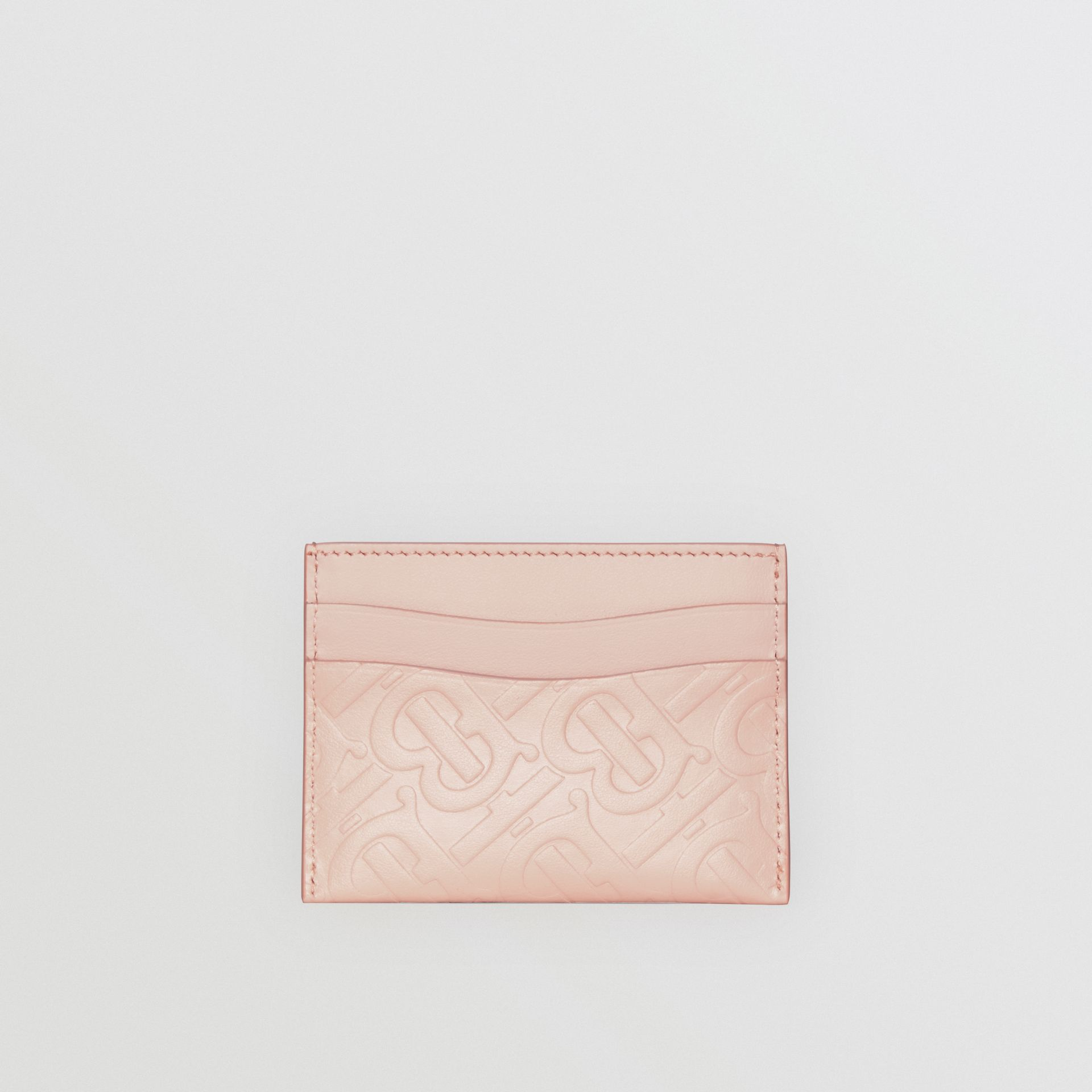 Monogram Leather Card Case in Rose Beige - Women | Burberry - gallery image 4