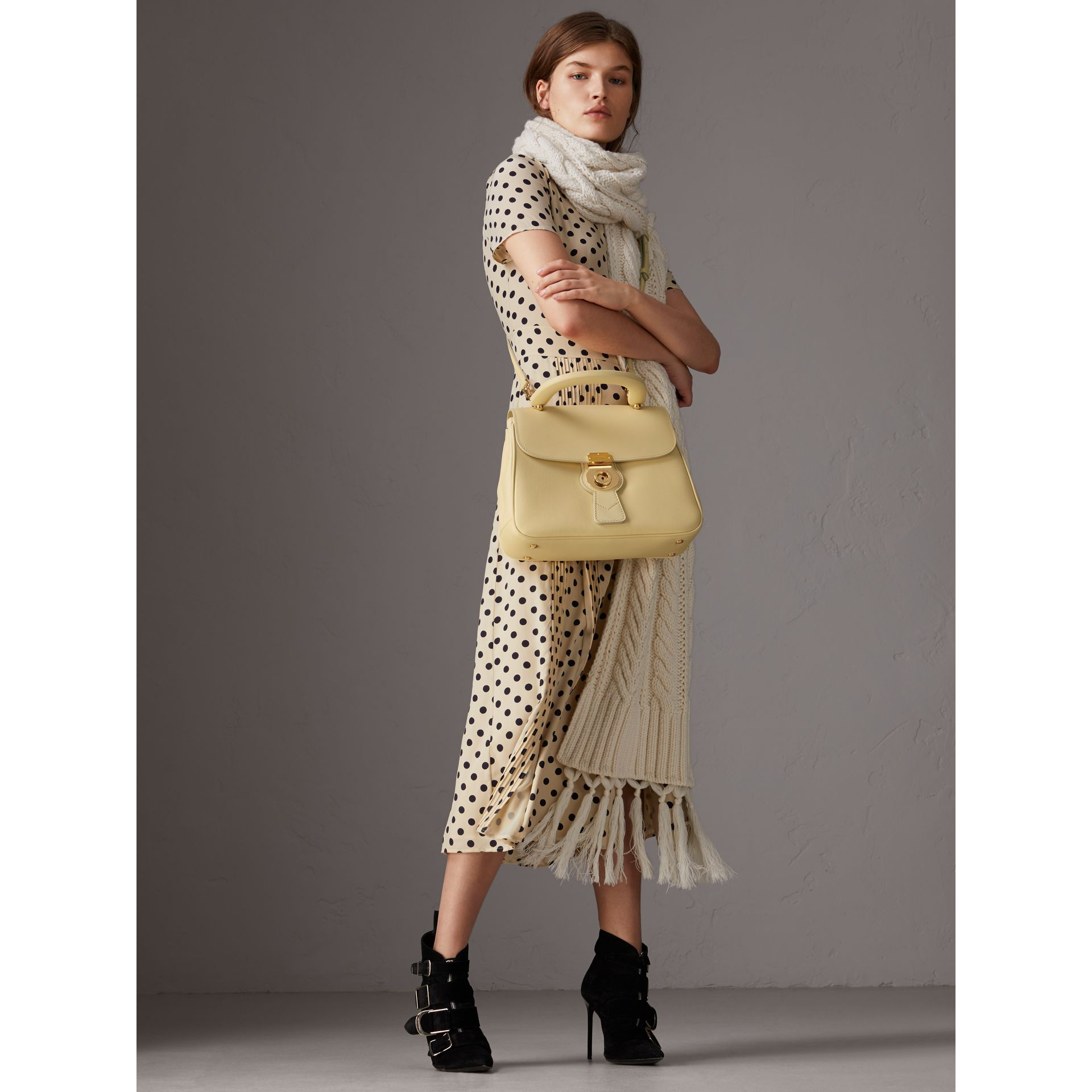 The Medium DK88 Top Handle Bag in Camomile Yellow - Women | Burberry - gallery image 3