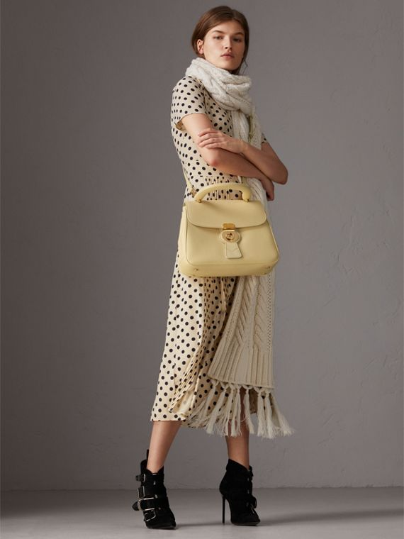 The Medium DK88 Top Handle Bag in Camomile Yellow - Women | Burberry Australia - cell image 2