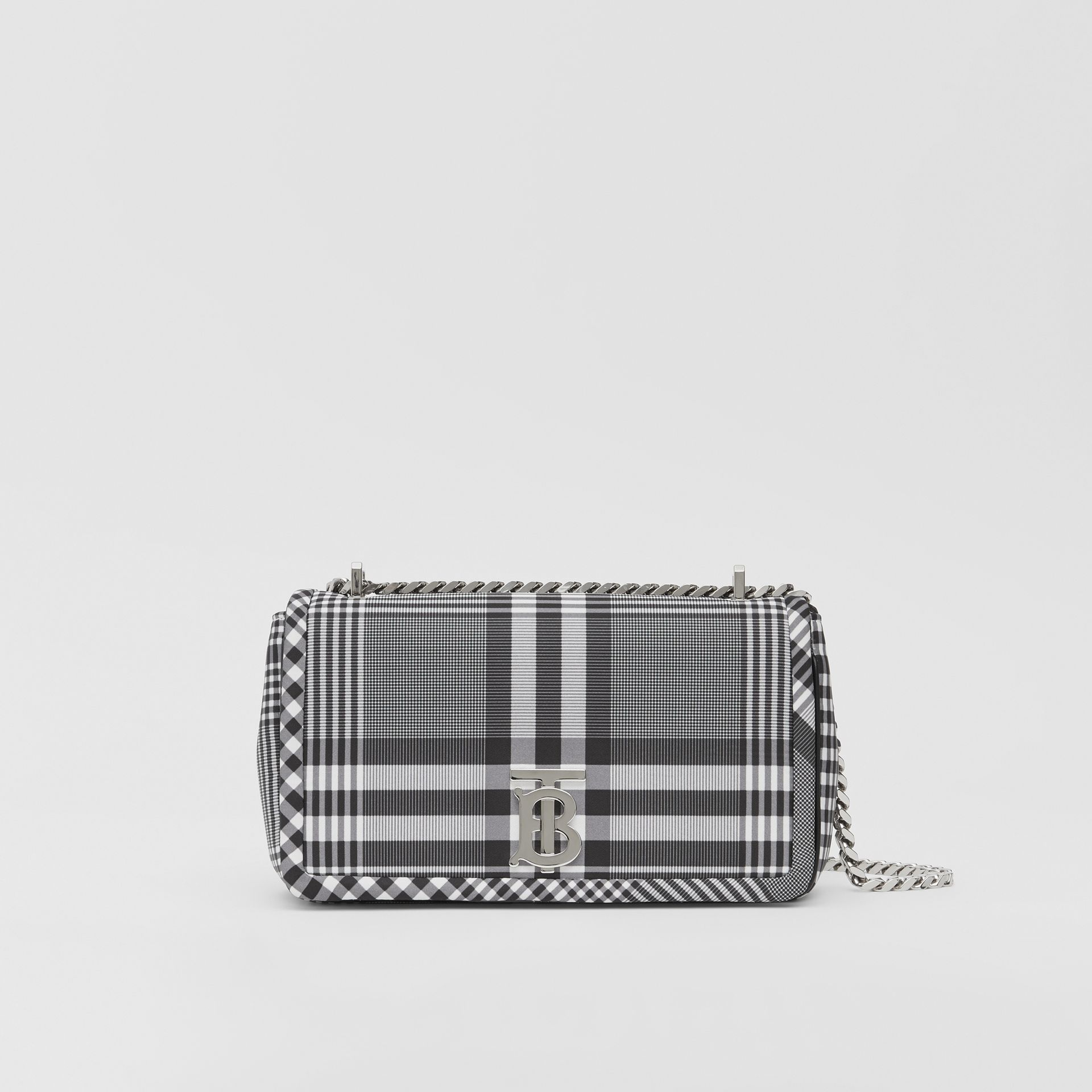 Small Check Nylon Lola Bag in Black/white - Women | Burberry Australia - gallery image 0