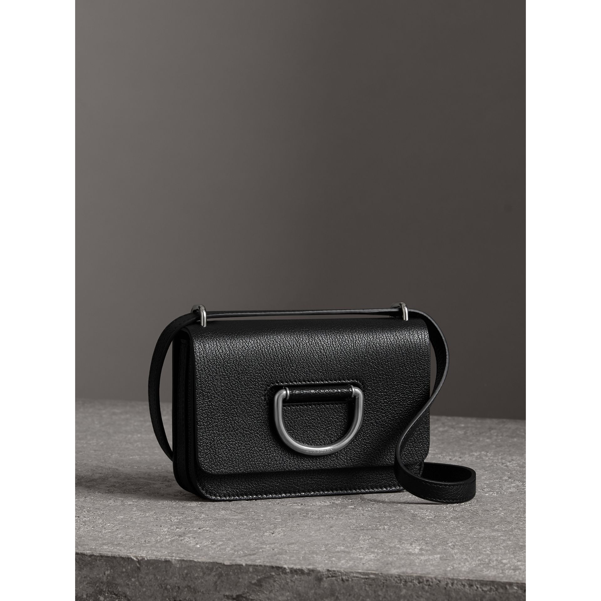 The Mini Leather D-ring Bag in Black - Women | Burberry United Kingdom - gallery image 4