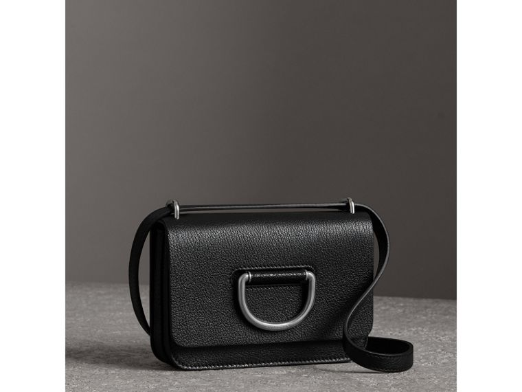 The Mini Leather D-Ring Bag in Black - Women | Burberry - cell image 4