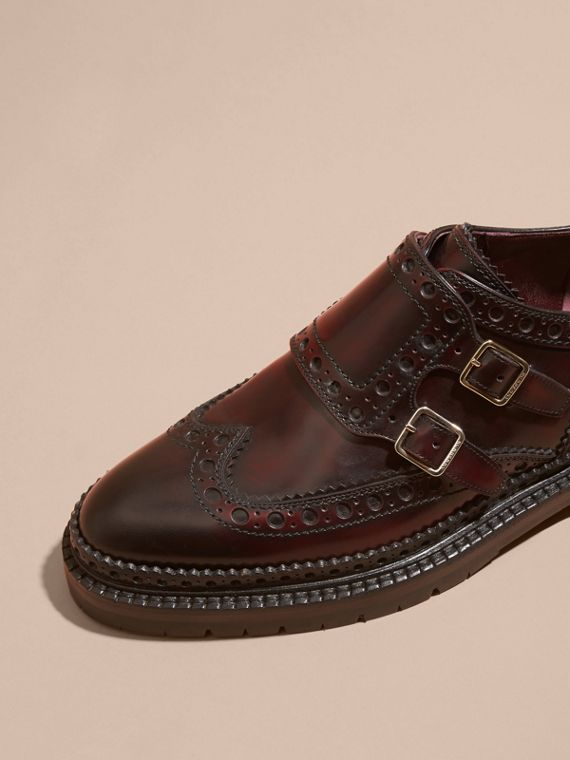 Bordeaux Leather Monk-strap Brogues - cell image 2