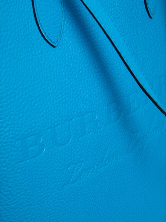 Medium Embossed Leather Tote in Neon Blue | Burberry Singapore - cell image 2