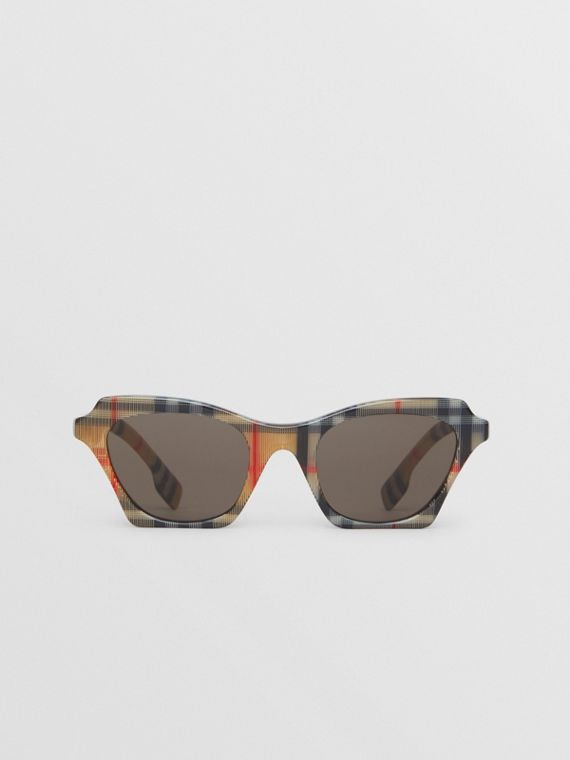Vintage Check Butterfly Sunglasses in Antique Yellow