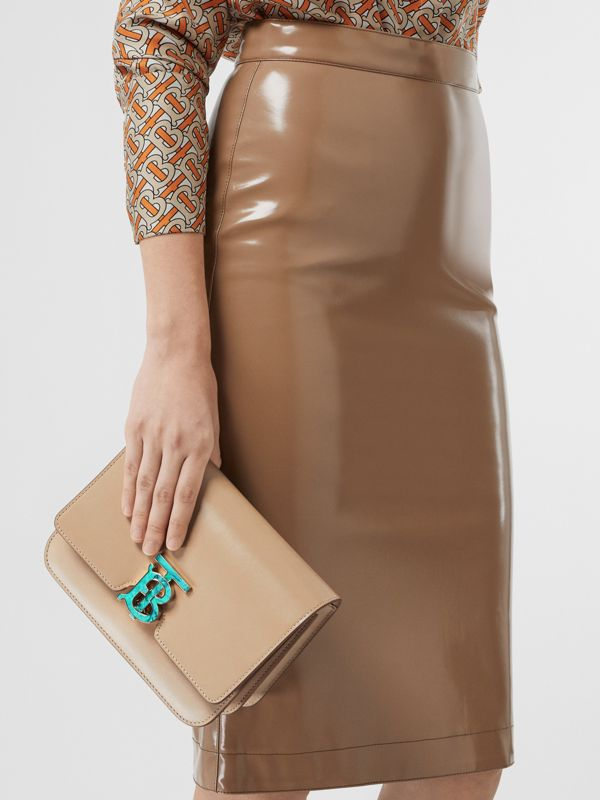 Small Leather TB Bag in Honey - Women | Burberry Australia - cell image 2
