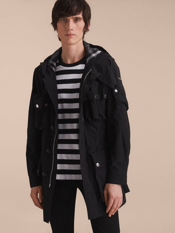 Hooded Technical Field Jacket