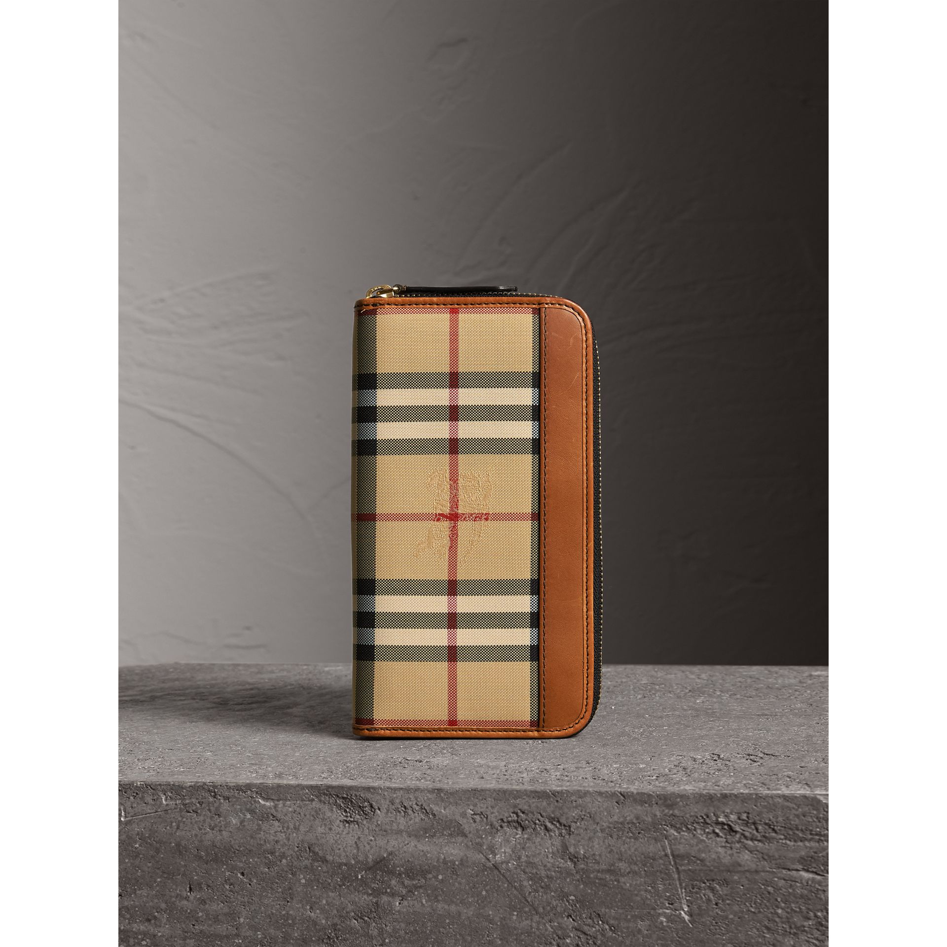Horseferry Check Ziparound Wallet in Tan - Men | Burberry - gallery image 4