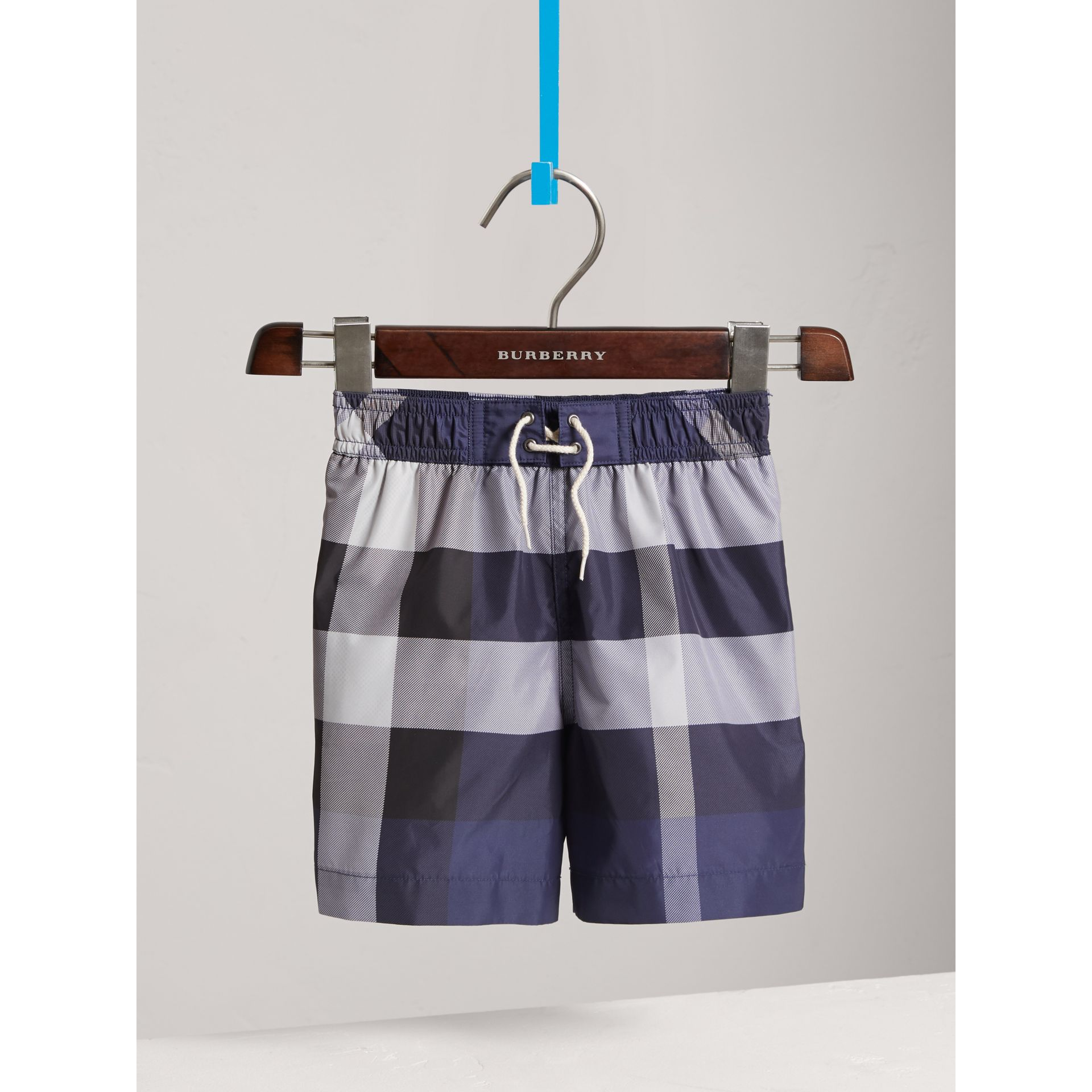 Check Technical Swim Shorts in Ink - Boy | Burberry - gallery image 0