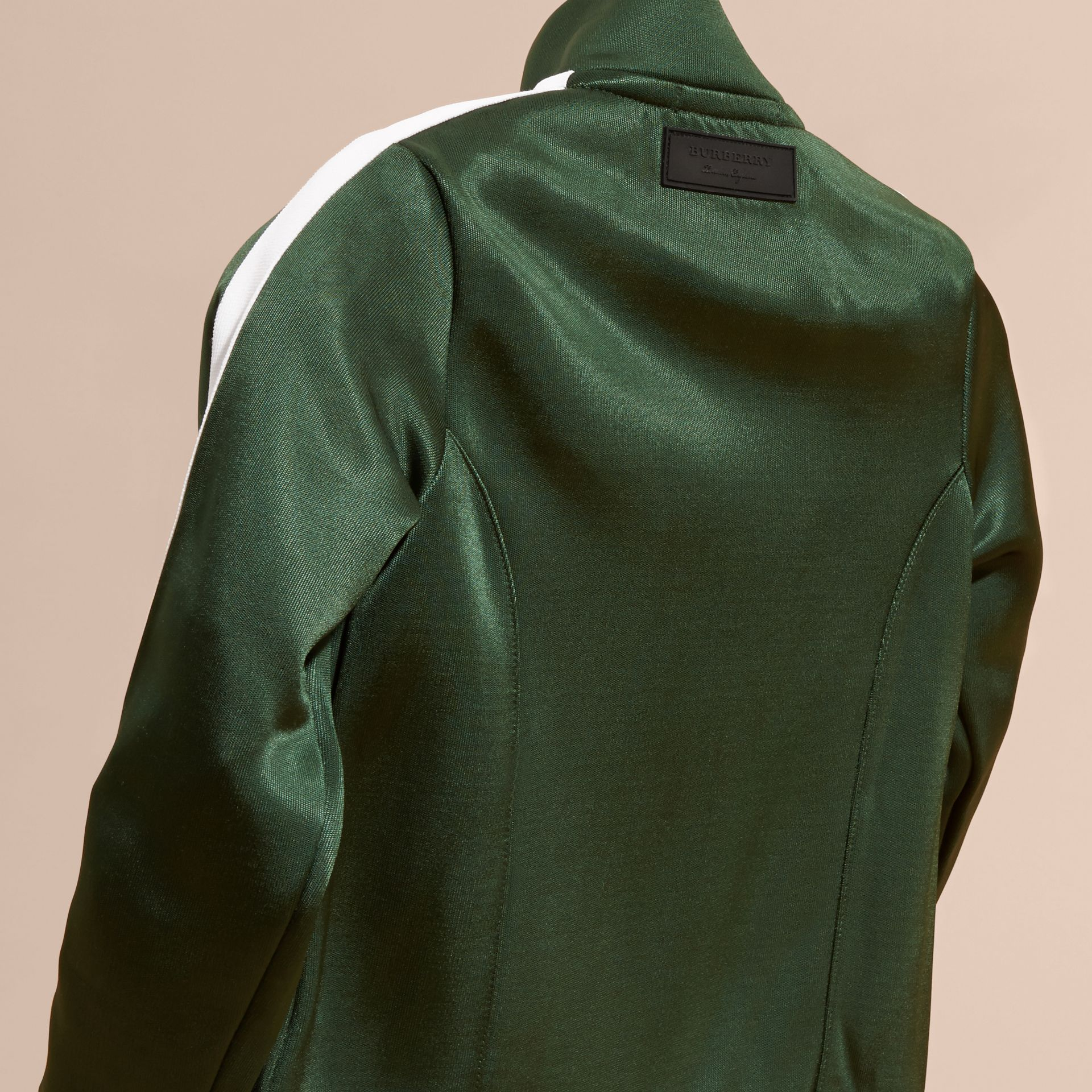 Deep green High-shine Technical Track Jacket Deep Green - gallery image 4