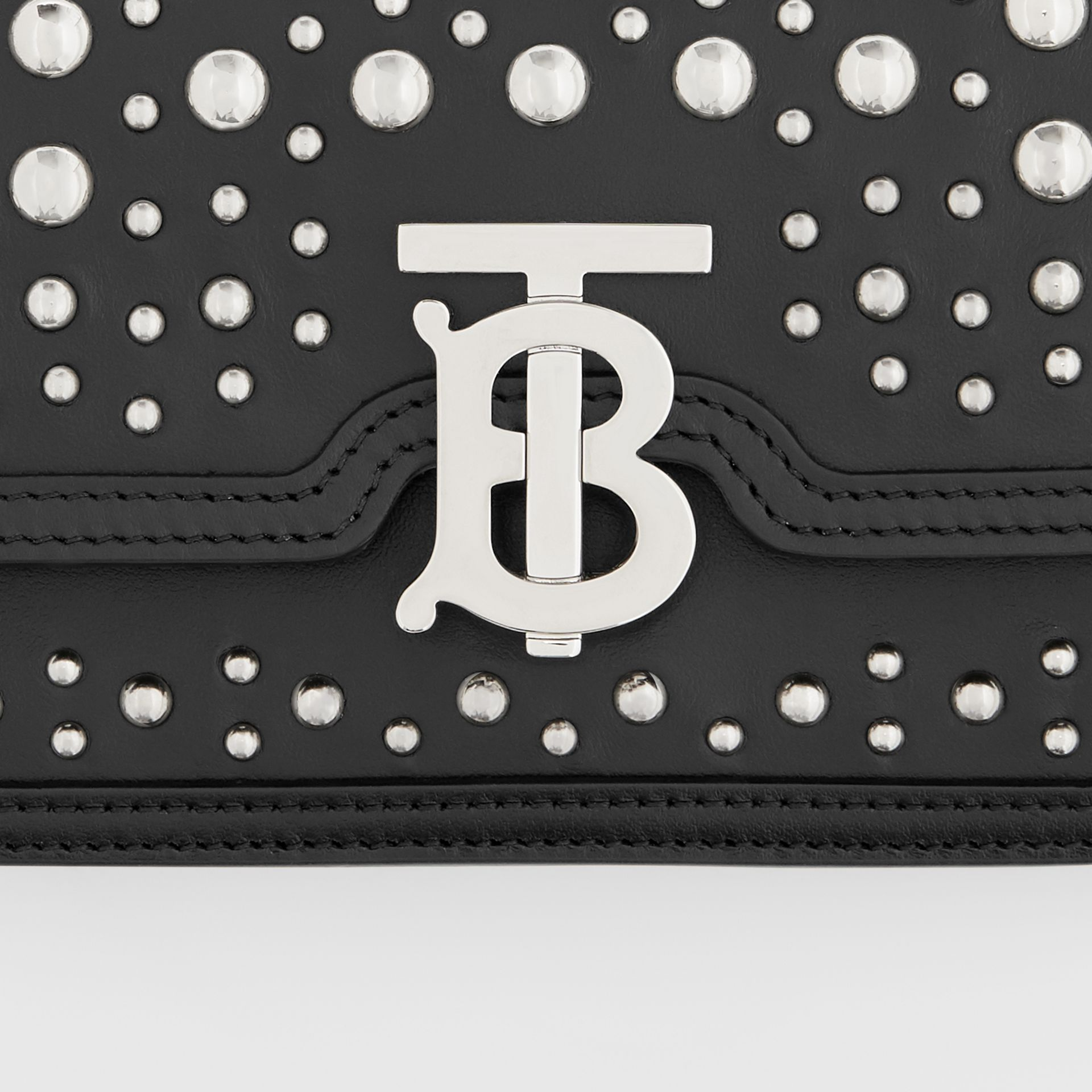 Mini Embellished Leather Shoulder Bag in Black - Women | Burberry - gallery image 1