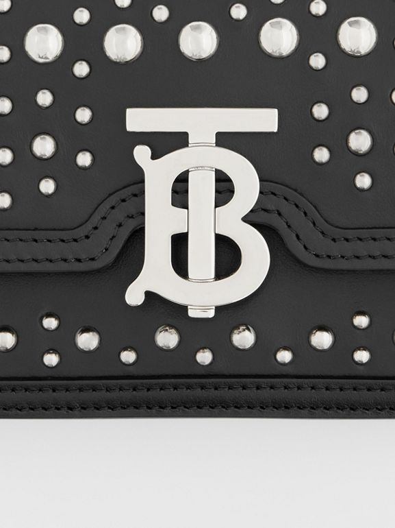 Mini Embellished Leather Shoulder Bag in Black - Women | Burberry - cell image 1
