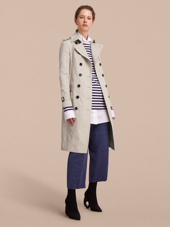 The Sandringham – Extra-long Heritage Trench Coat Stone