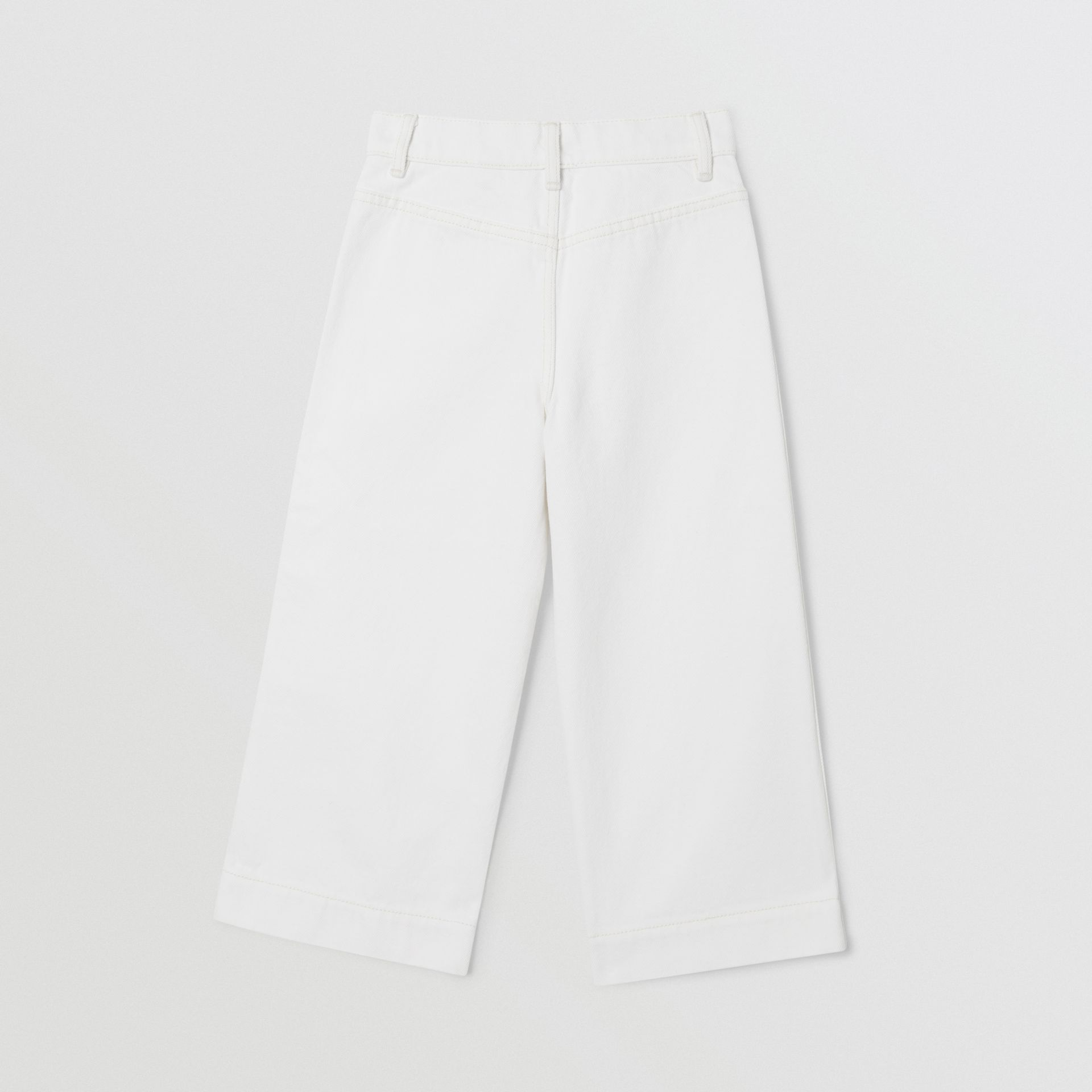 Logo Print Japanese Denim Jeans in Natural White   Burberry United Kingdom - gallery image 3