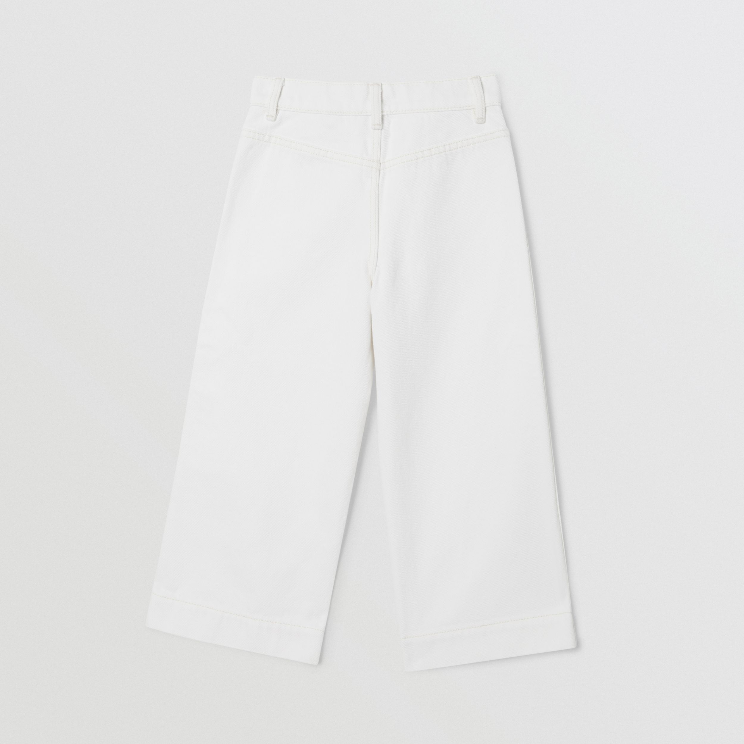 Logo Print Japanese Denim Jeans in Natural White | Burberry - 4